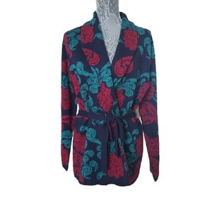Norm Thompson vintage floral cardigan sweater